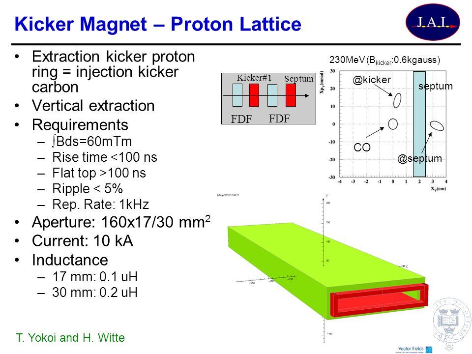 Kicker Magnet – Proton Lattice