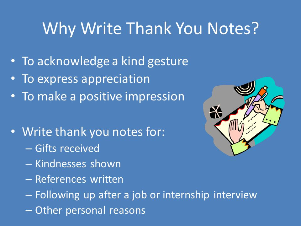 Why Write Thank You Notes