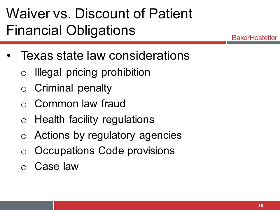 Waiver vs. Discount of Patient Financial Obligations