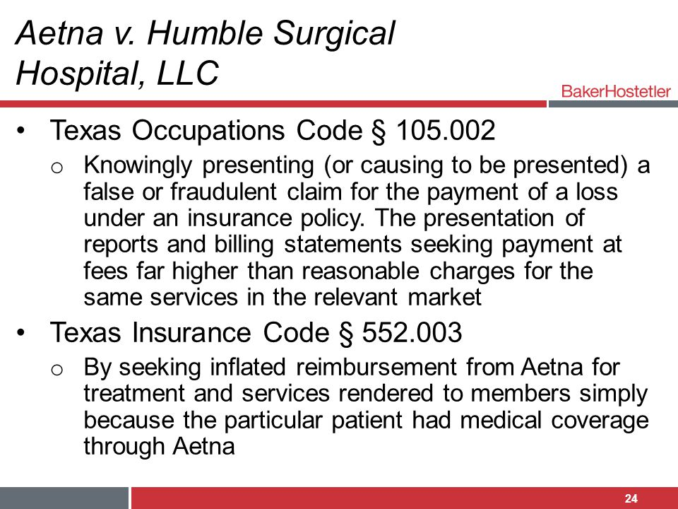 Aetna v. Humble Surgical Hospital, LLC