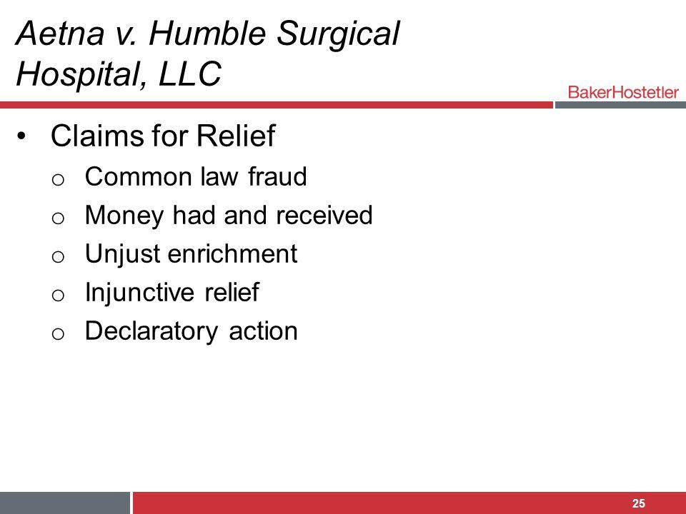 Aetna v. Humble Surgical Hospital, LLC