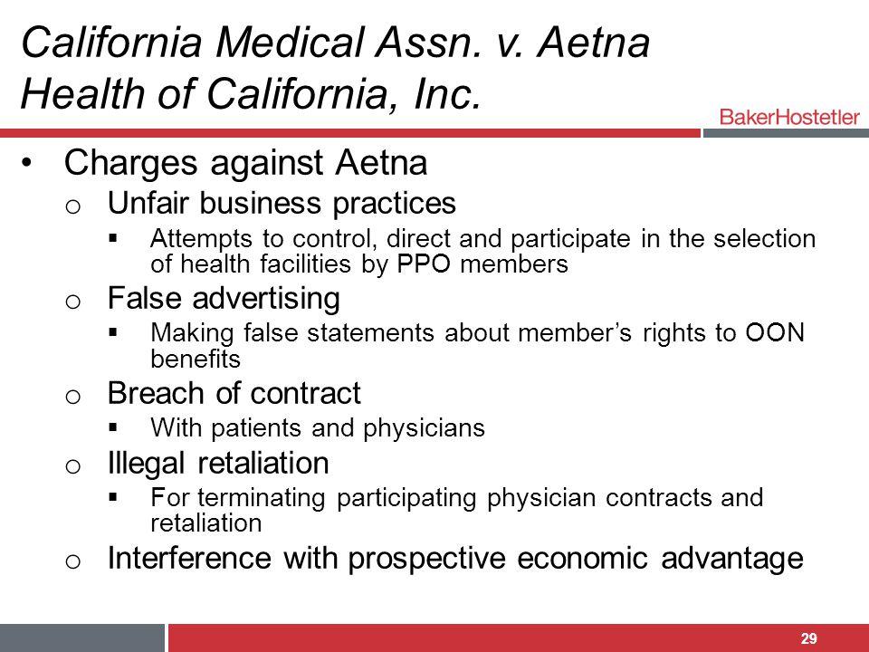 California Medical Assn. v. Aetna Health of California, Inc.