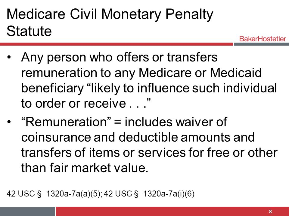 Medicare Civil Monetary Penalty Statute
