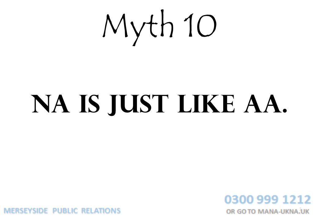 Myth 10 NA is just like AA.