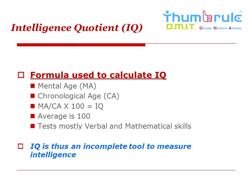 Intelligence Quotient (IQ)