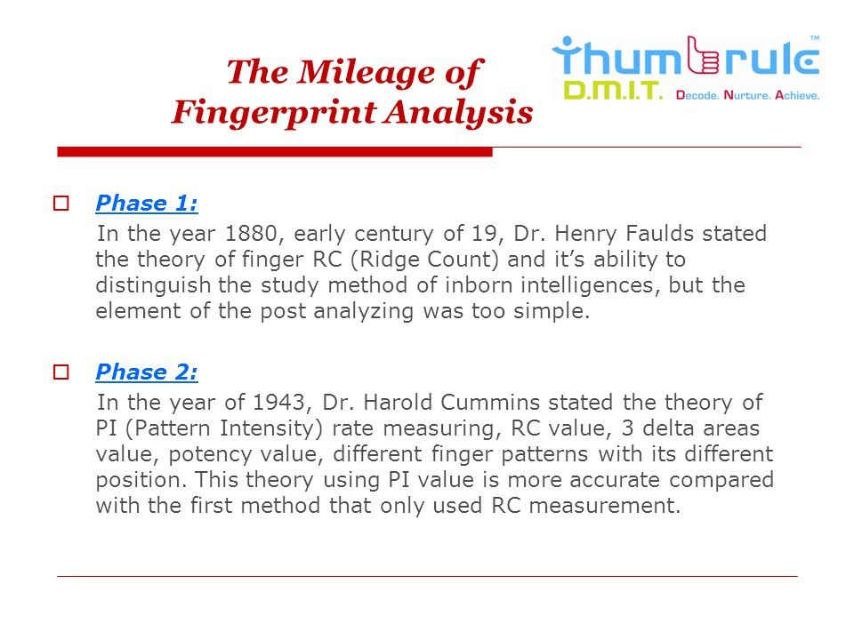 The Mileage of Fingerprint Analysis