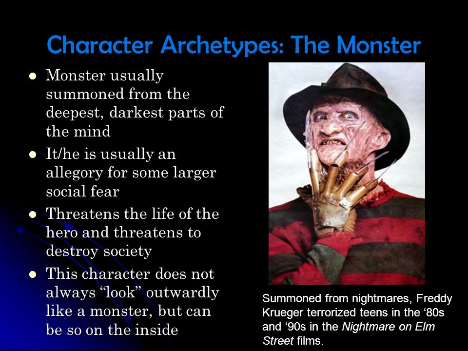 Character Archetypes: The Monster