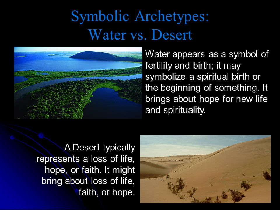 Symbolic Archetypes: Water vs. Desert