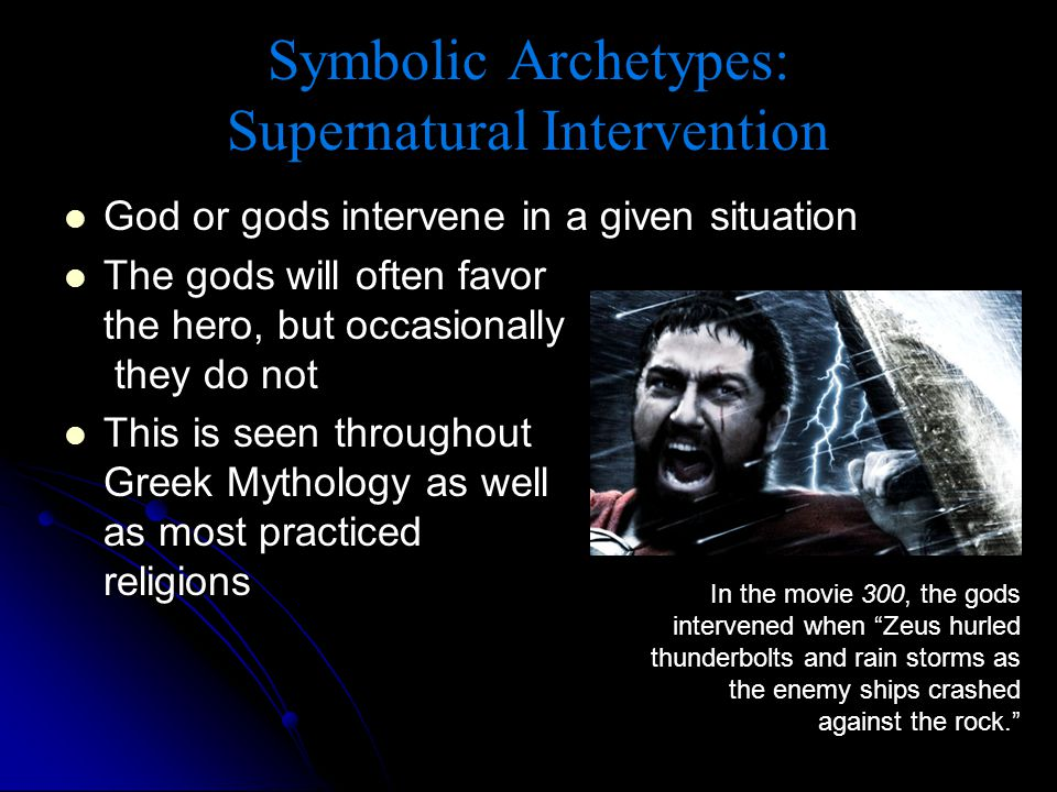 Symbolic Archetypes: Supernatural Intervention