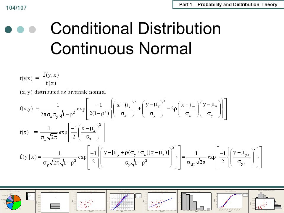 Conditional Distribution Continuous Normal