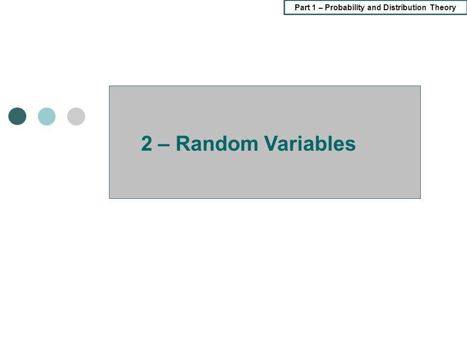 2 – Random Variables