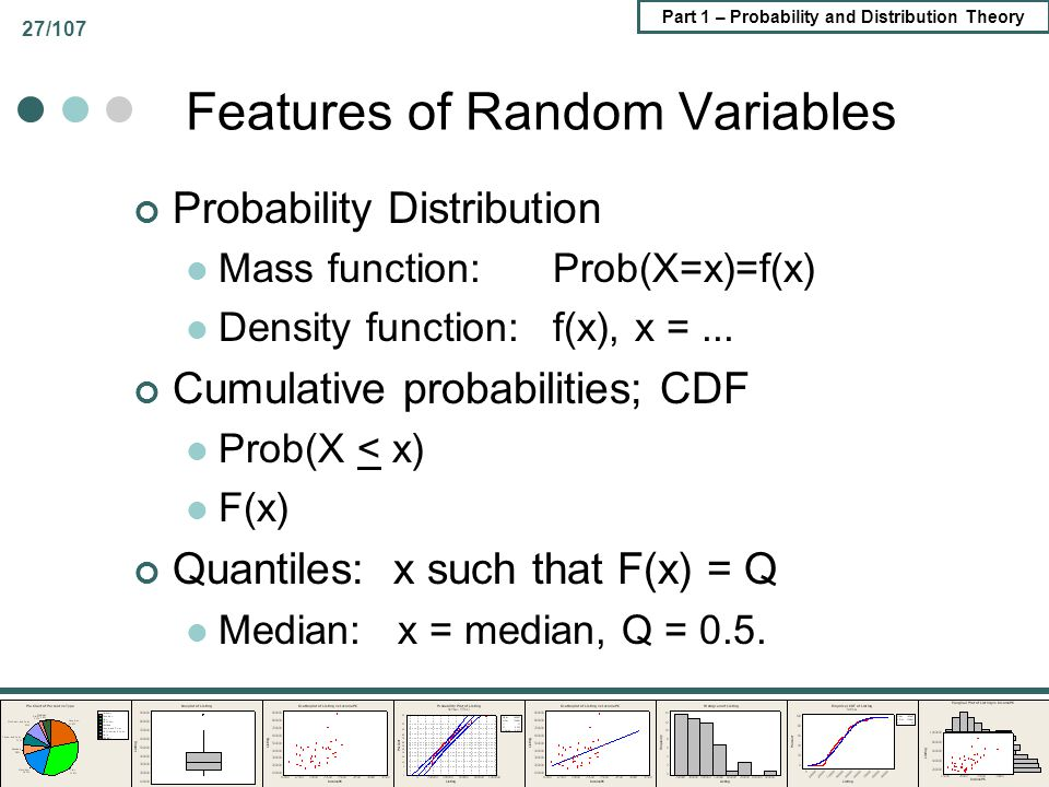 Features of Random Variables
