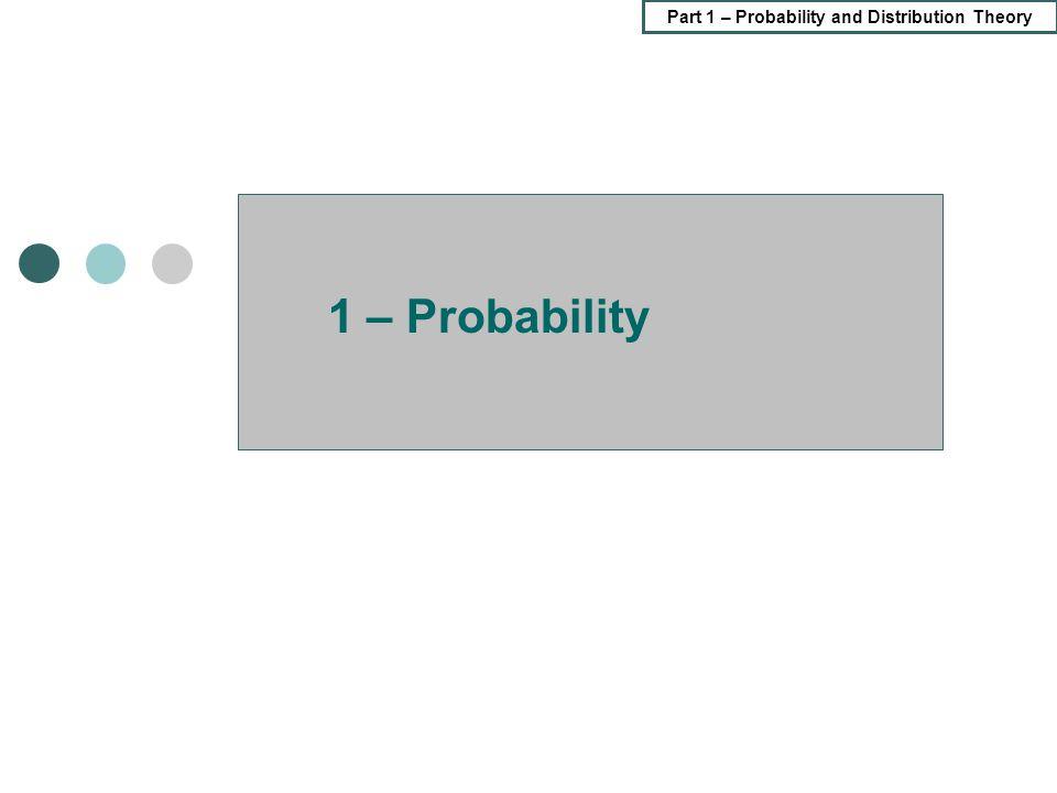 1 – Probability