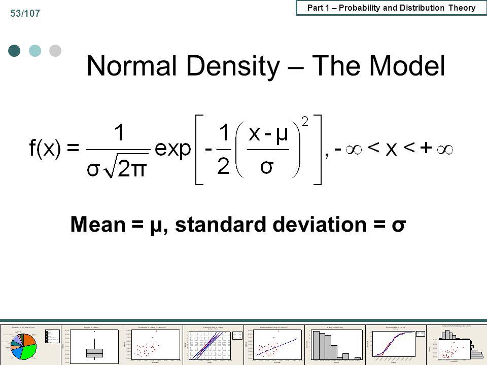 Normal Density – The Model