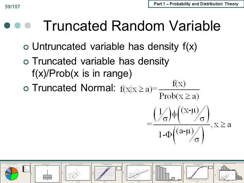 Truncated Random Variable