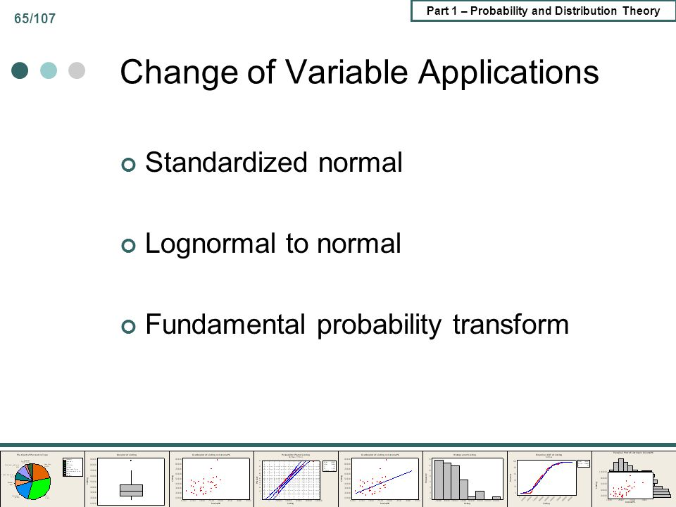 Change of Variable Applications