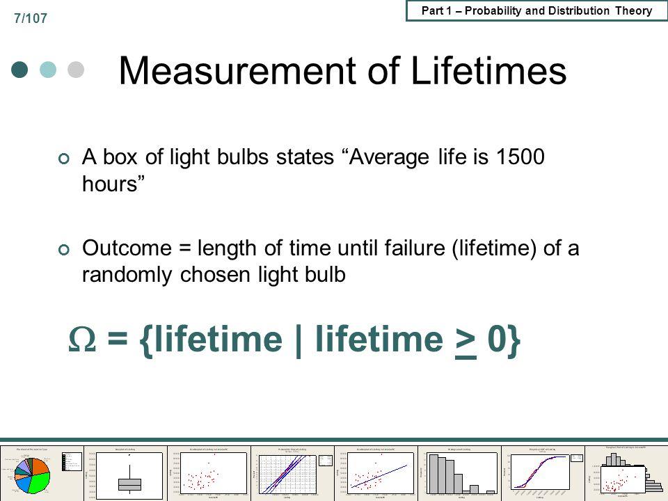 Measurement of Lifetimes