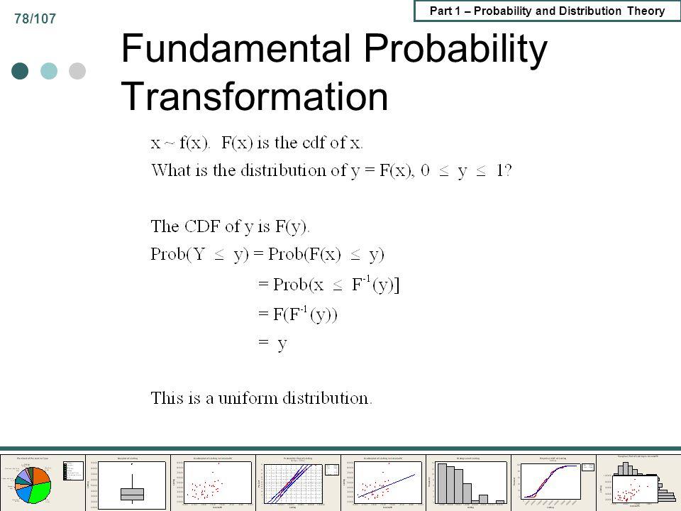 Fundamental Probability Transformation