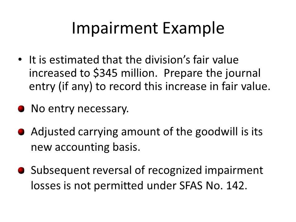 Impairment Example