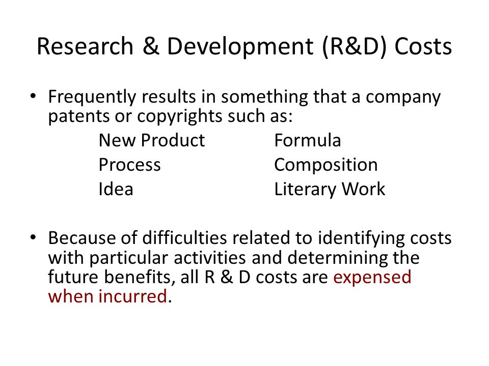 Research & Development (R&D) Costs