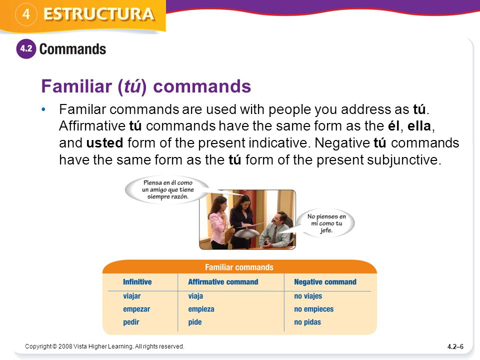 Familiar (tú) commands