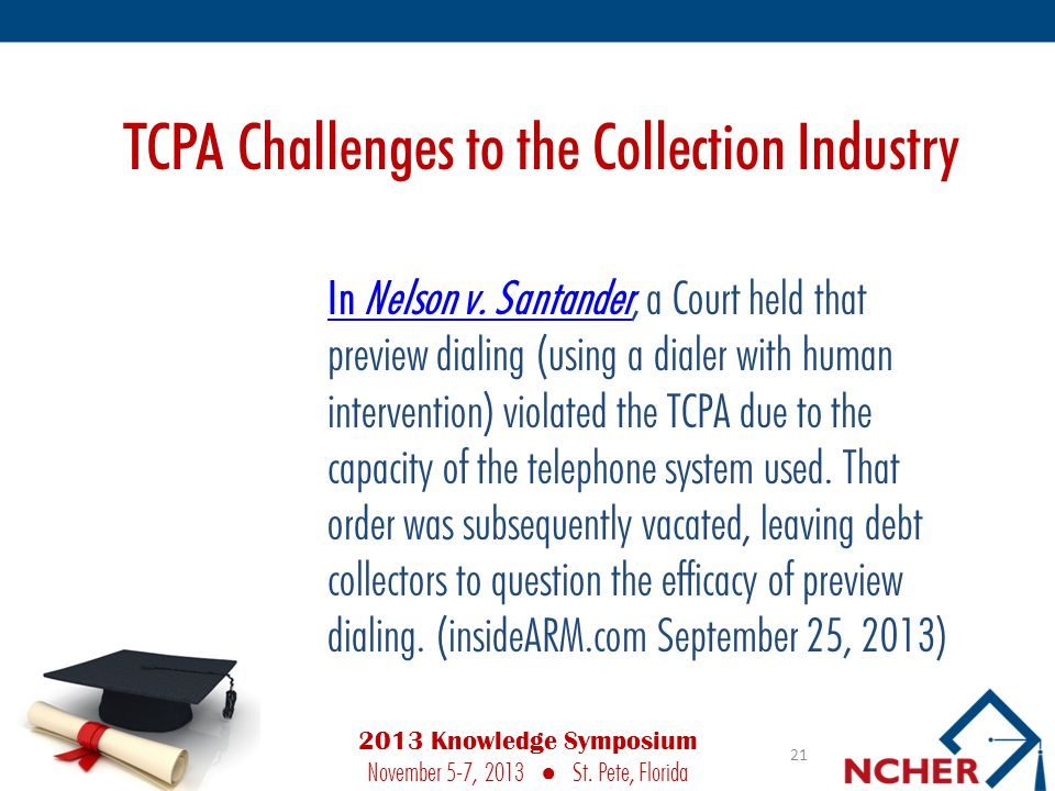 TCPA Challenges to the Collection Industry