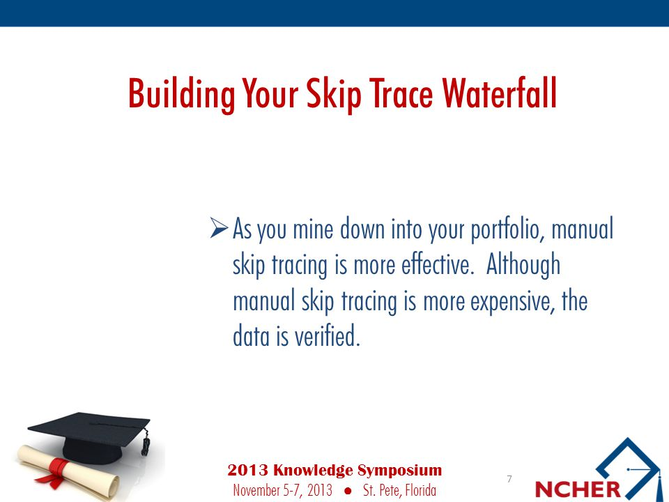 Building Your Skip Trace Waterfall