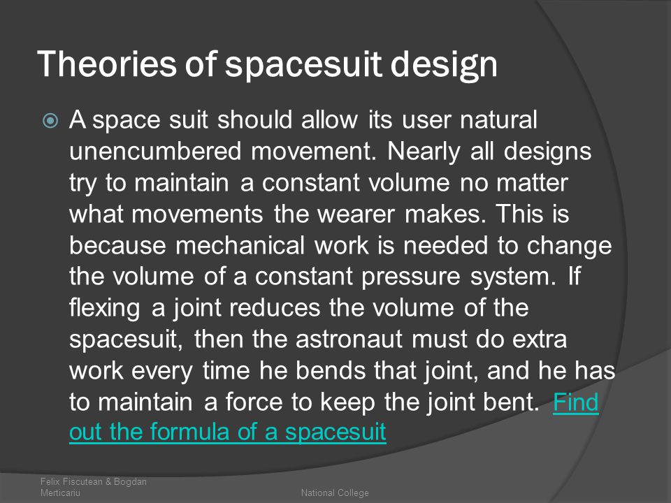 Theories of spacesuit design