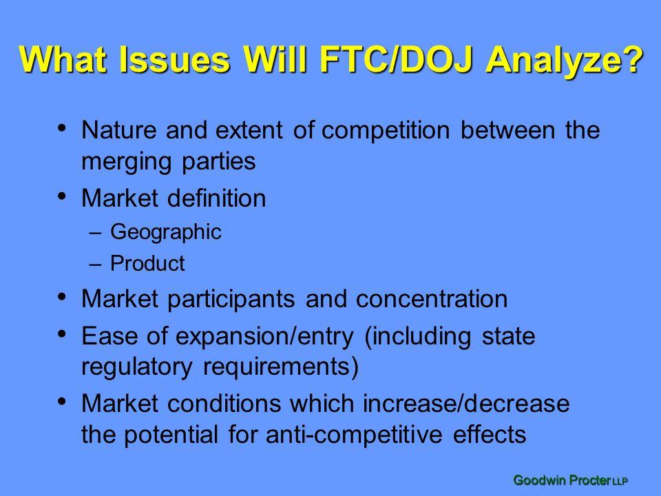What Issues Will FTC/DOJ Analyze