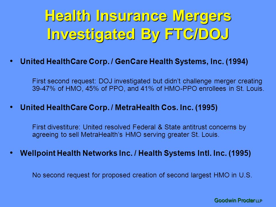 Health Insurance Mergers Investigated By FTC/DOJ