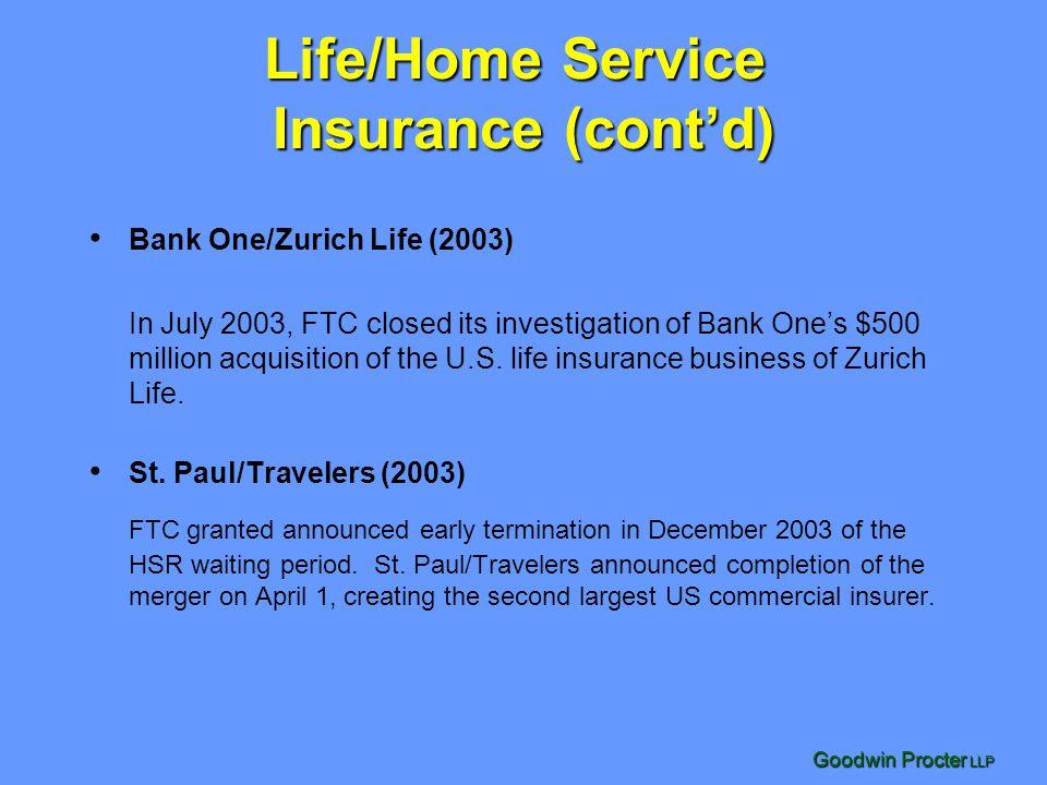 Life/Home Service Insurance (cont'd)