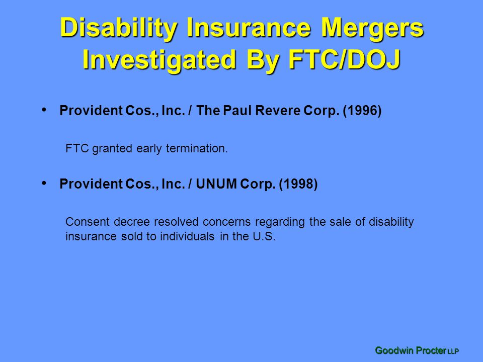 Disability Insurance Mergers Investigated By FTC/DOJ