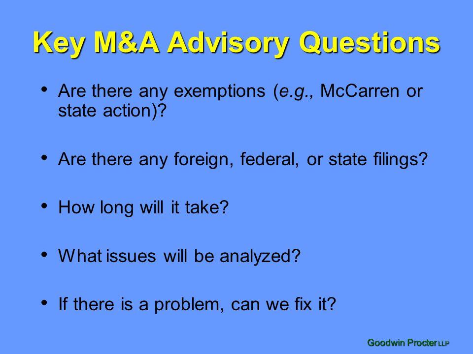 Key M&A Advisory Questions