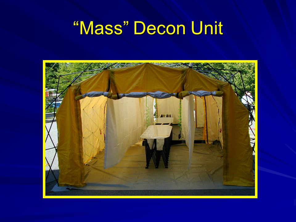 Mass Decon Unit Transfer boards on center roller system