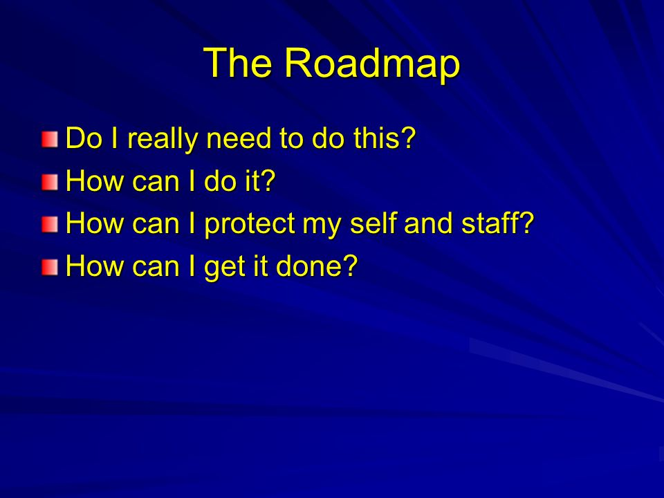 The Roadmap Do I really need to do this How can I do it