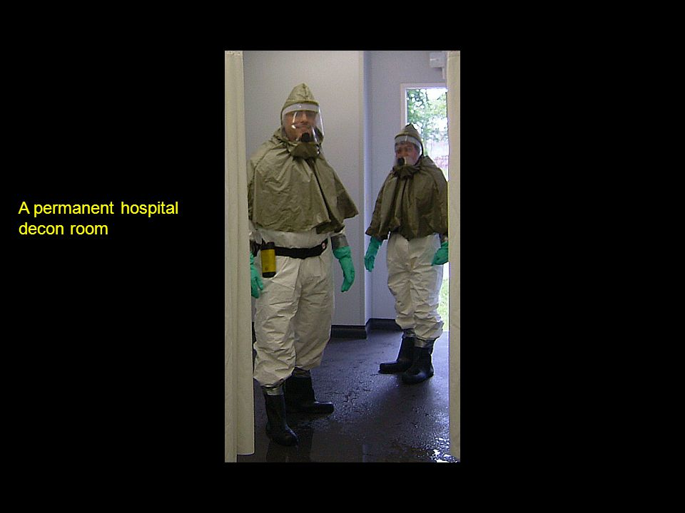 A permanent hospital decon room