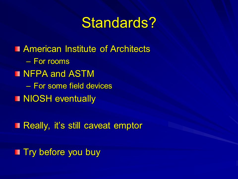 Standards American Institute of Architects NFPA and ASTM