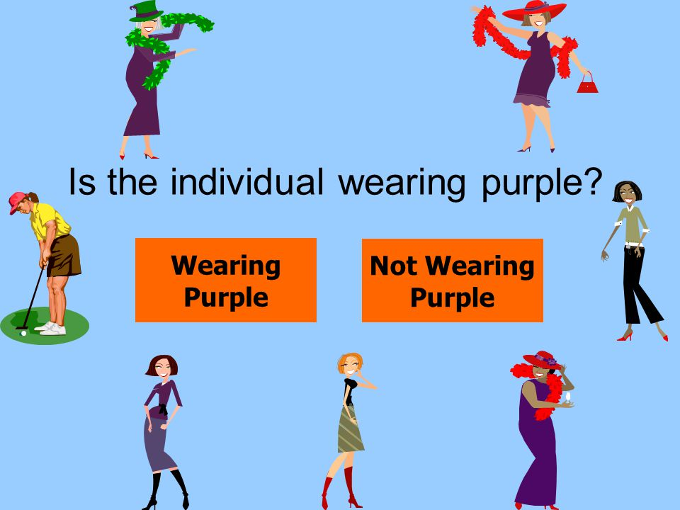 Is the individual wearing purple