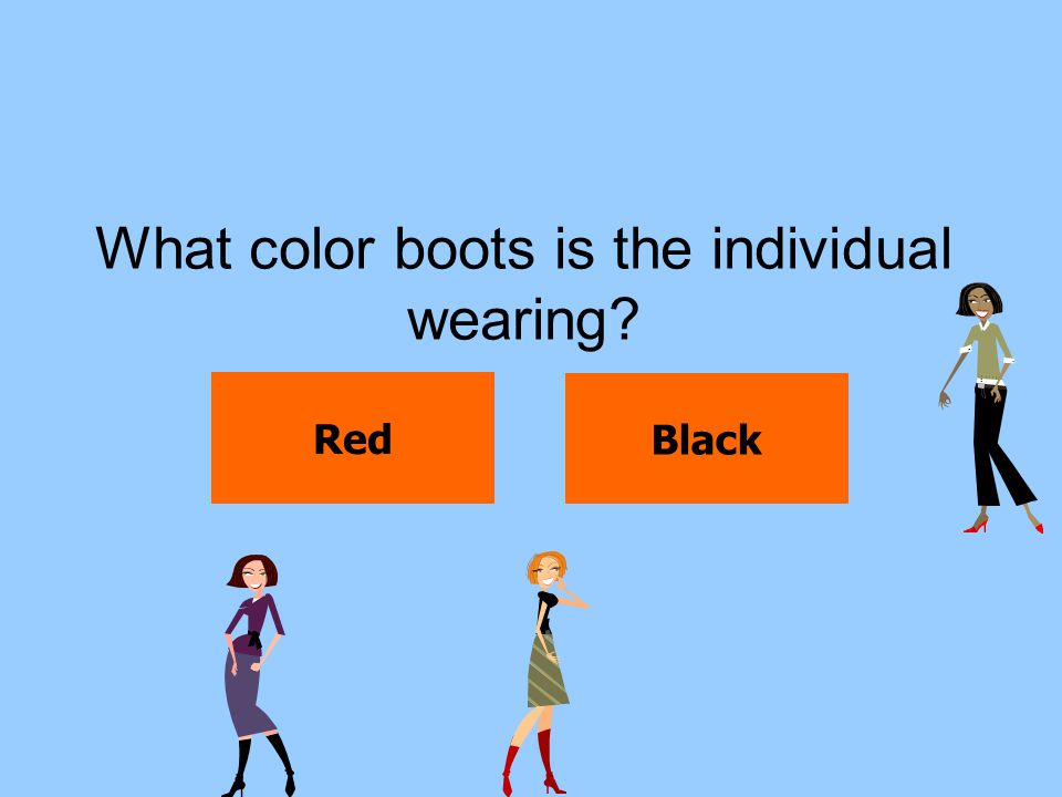 What color boots is the individual wearing
