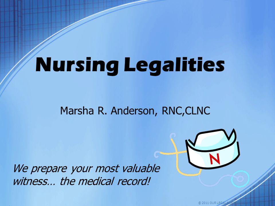 Marsha R. Anderson, RNC,CLNC