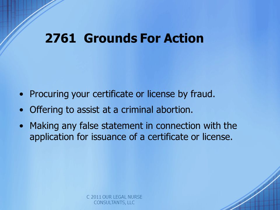 C 2011 OUR LEGAL NURSE CONSULTANTS, LLC