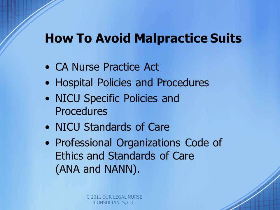 How To Avoid Malpractice Suits