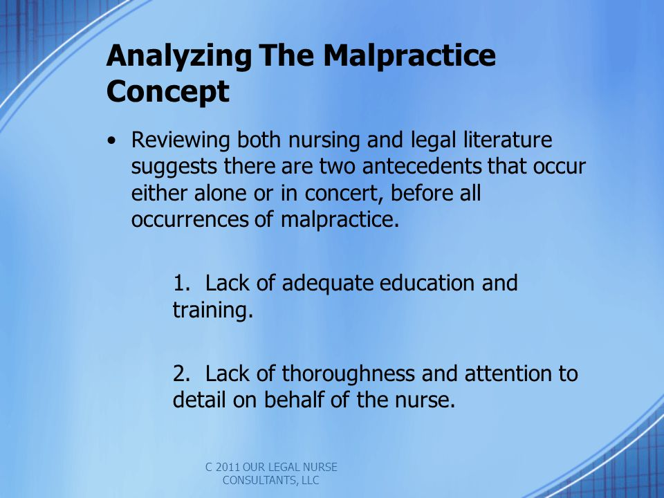 Analyzing The Malpractice Concept