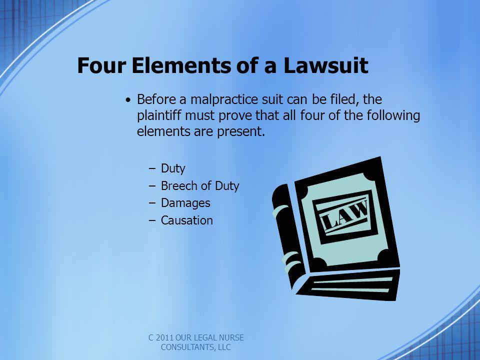 Four Elements of a Lawsuit