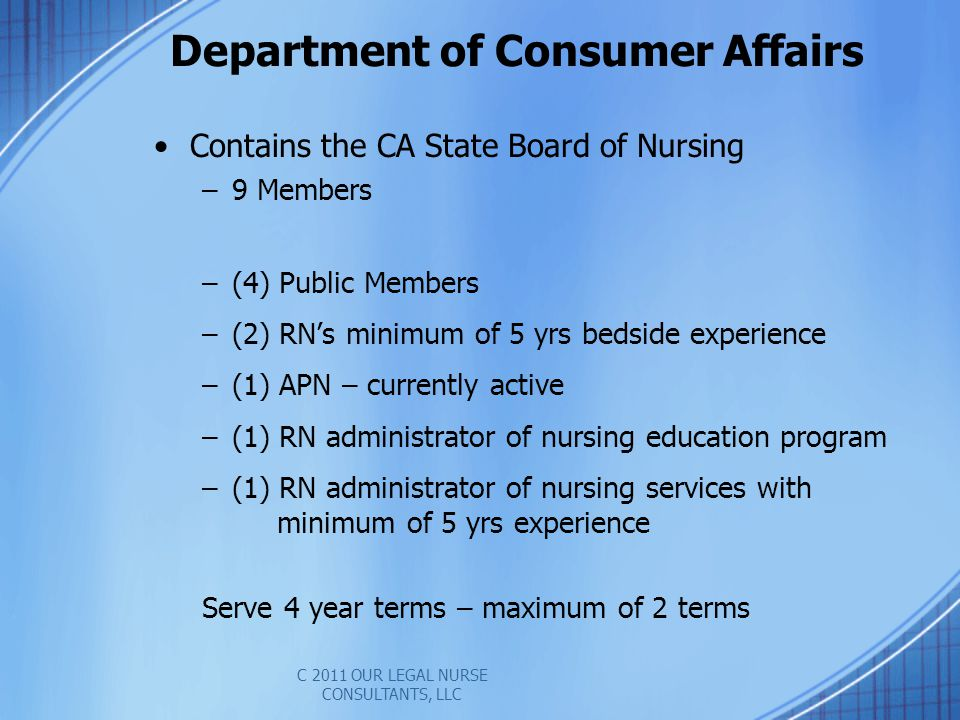 Department of Consumer Affairs