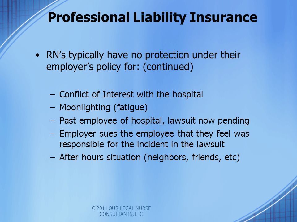Professional Liability Insurance