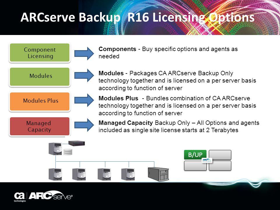 ARCserve Backup R16 Licensing Options