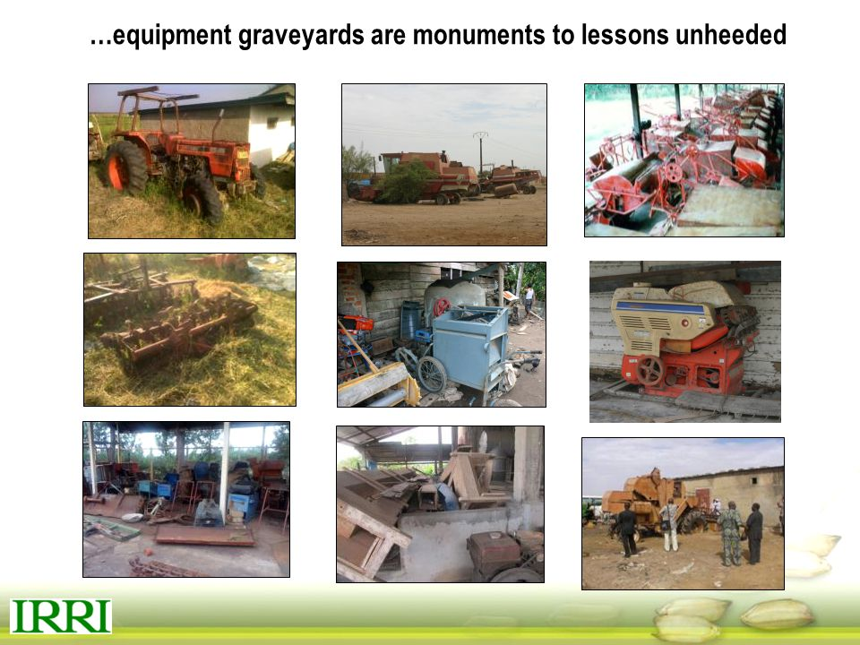 …equipment graveyards are monuments to lessons unheeded