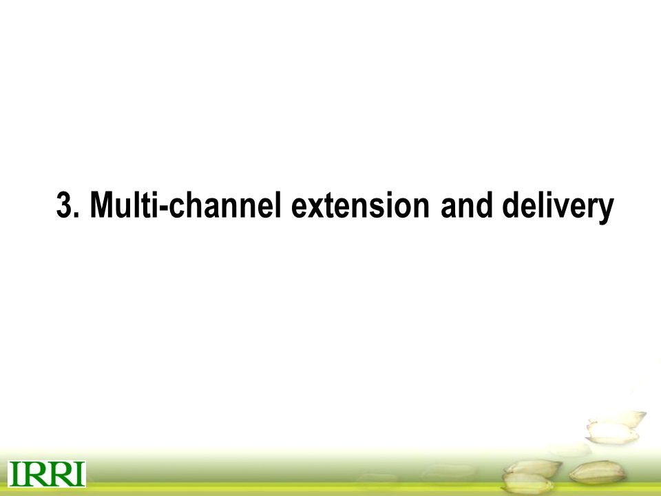 3. Multi-channel extension and delivery