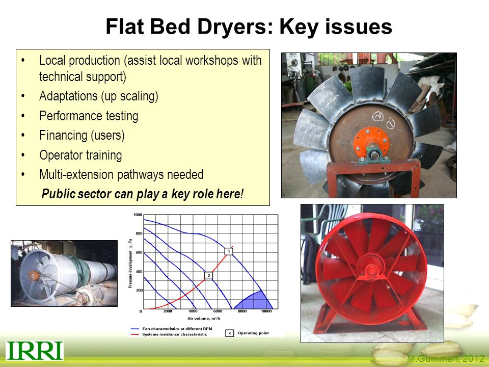 Flat Bed Dryers: Key issues